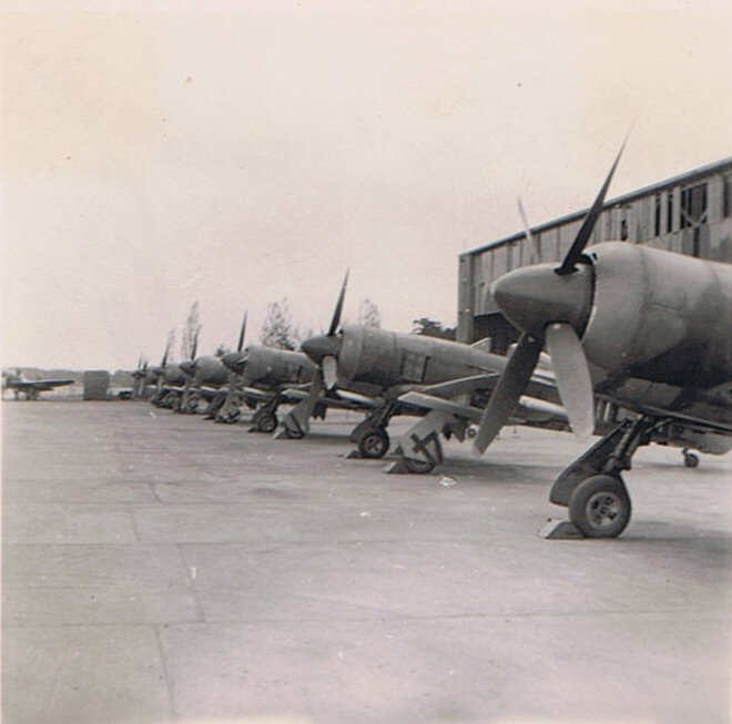 33 Squadron Hawker Tempests, RAF Fassberg, Germany, 1945