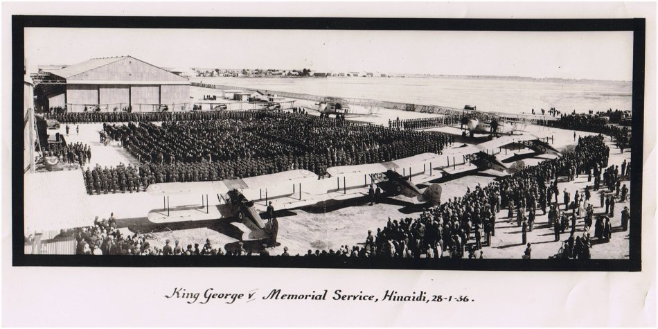 King George V Memorial Service,  Hinaidi, Iraq, 28th January 1936