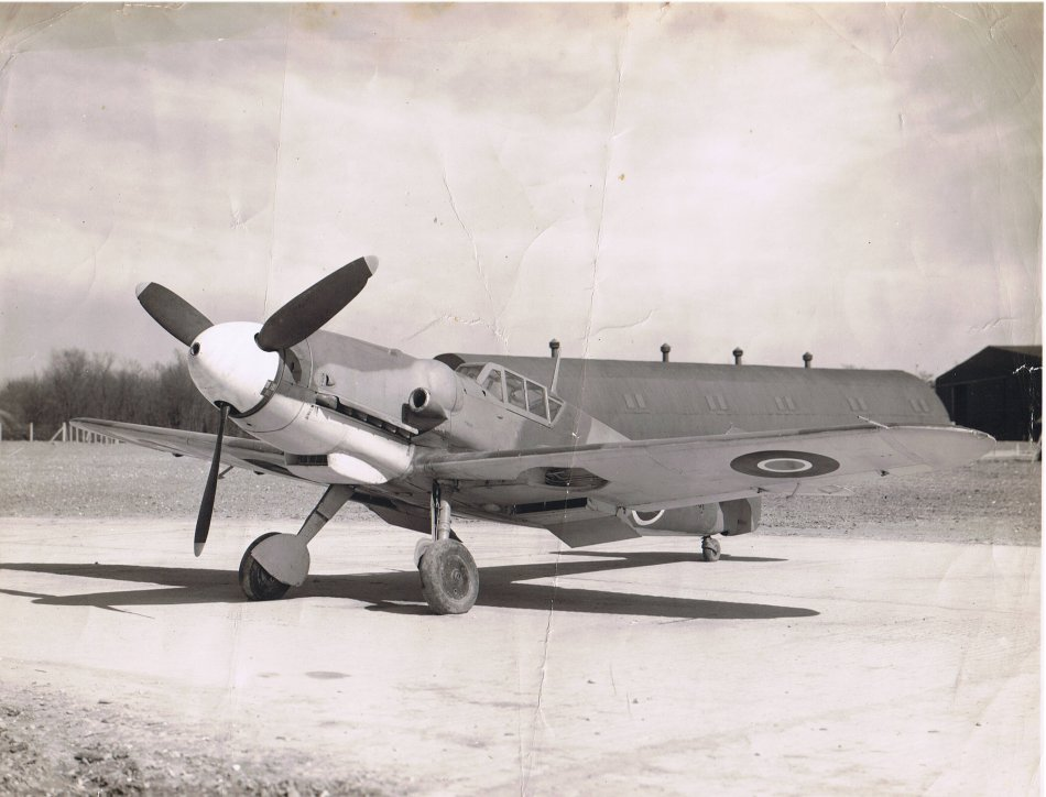 Captured Messerschmitt Bf 109 in RAF Markings