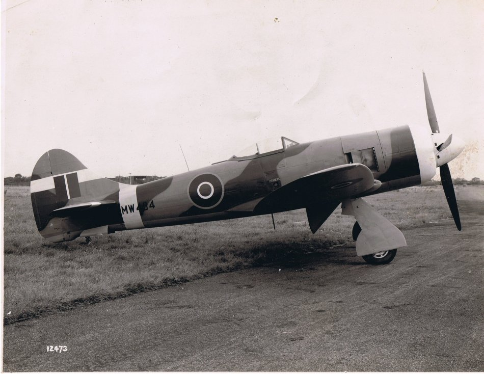 Hawker Tempest II with Bristol Centaurus V engine