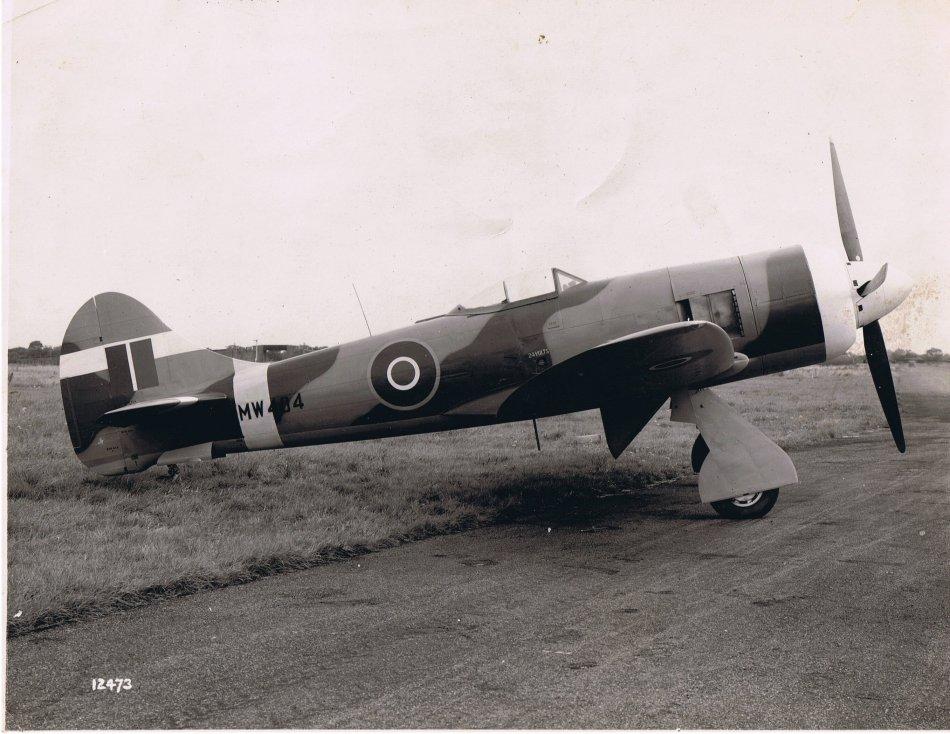 Hawker Tempest II with Bristol Centaurus V engine