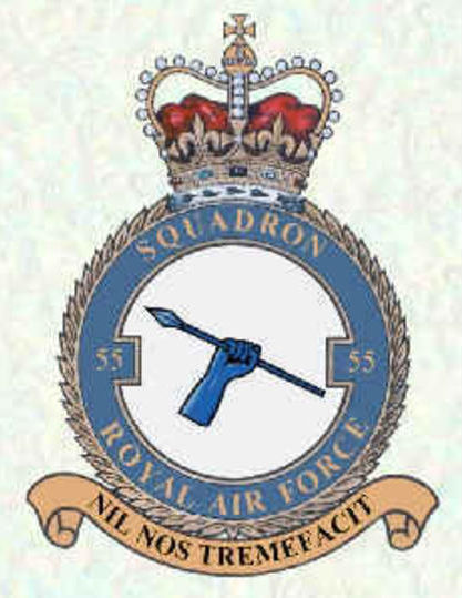 RAF 55 Squadron badge and motto